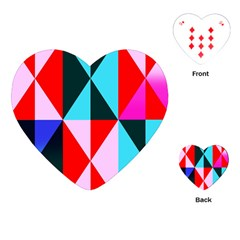 Geometric Pattern Design Angles Playing Cards (heart)