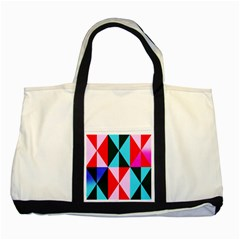 Geometric Pattern Design Angles Two Tone Tote Bag