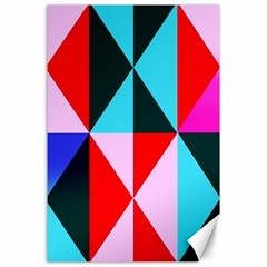 Geometric Pattern Design Angles Canvas 24  X 36