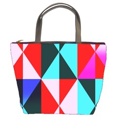 Geometric Pattern Design Angles Bucket Bags