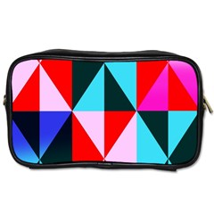Geometric Pattern Design Angles Toiletries Bags 2 Side
