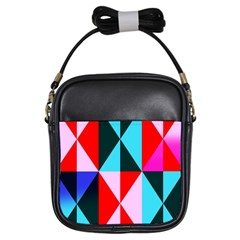 Geometric Pattern Design Angles Girls Sling Bags