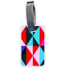 Geometric Pattern Design Angles Luggage Tags (one Side)