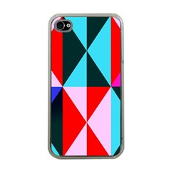 Geometric Pattern Design Angles Apple Iphone 4 Case (clear)
