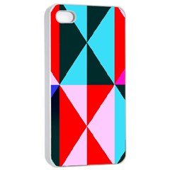 Geometric Pattern Design Angles Apple Iphone 4/4s Seamless Case (white)