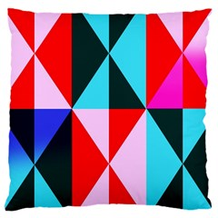 Geometric Pattern Design Angles Large Cushion Case (one Side)
