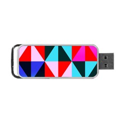Geometric Pattern Design Angles Portable Usb Flash (one Side)