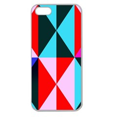 Geometric Pattern Design Angles Apple Seamless Iphone 5 Case (clear)