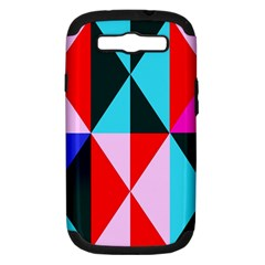Geometric Pattern Design Angles Samsung Galaxy S Iii Hardshell Case (pc+silicone)