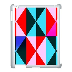 Geometric Pattern Design Angles Apple Ipad 3/4 Case (white)