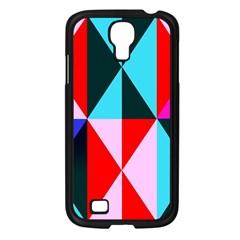 Geometric Pattern Design Angles Samsung Galaxy S4 I9500/ I9505 Case (black)