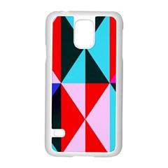 Geometric Pattern Design Angles Samsung Galaxy S5 Case (white)