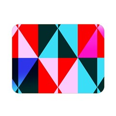 Geometric Pattern Design Angles Double Sided Flano Blanket (mini)