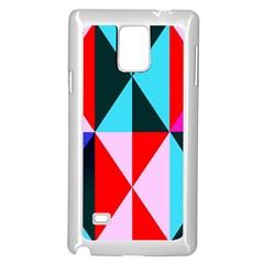 Geometric Pattern Design Angles Samsung Galaxy Note 4 Case (white)