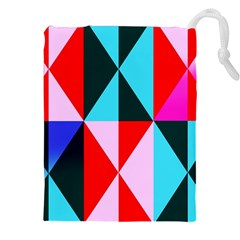 Geometric Pattern Design Angles Drawstring Pouches (xxl)