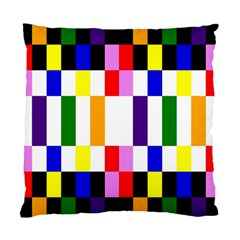Rainbow Color Blocks Red Orange Standard Cushion Case (two Sides)