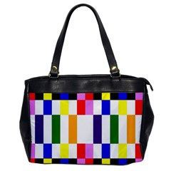 Rainbow Color Blocks Red Orange Office Handbags