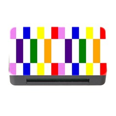Rainbow Color Blocks Red Orange Memory Card Reader With Cf by Nexatart