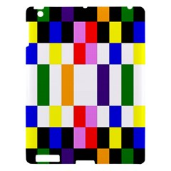 Rainbow Color Blocks Red Orange Apple Ipad 3/4 Hardshell Case by Nexatart