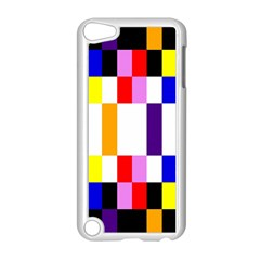 Rainbow Color Blocks Red Orange Apple Ipod Touch 5 Case (white) by Nexatart