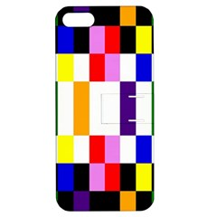 Rainbow Color Blocks Red Orange Apple Iphone 5 Hardshell Case With Stand