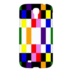 Rainbow Color Blocks Red Orange Samsung Galaxy S4 I9500/i9505 Hardshell Case by Nexatart