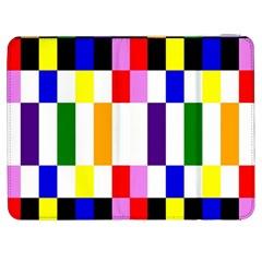 Rainbow Color Blocks Red Orange Samsung Galaxy Tab 7  P1000 Flip Case