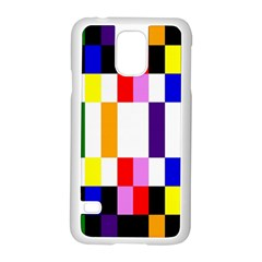 Rainbow Color Blocks Red Orange Samsung Galaxy S5 Case (white) by Nexatart