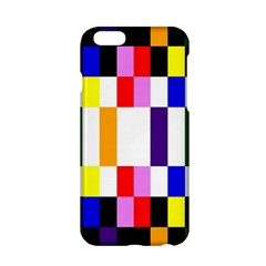 Rainbow Color Blocks Red Orange Apple Iphone 6/6s Hardshell Case by Nexatart