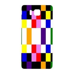 Rainbow Color Blocks Red Orange Samsung Galaxy Alpha Hardshell Back Case