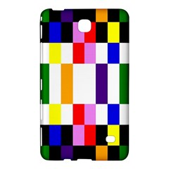 Rainbow Color Blocks Red Orange Samsung Galaxy Tab 4 (7 ) Hardshell Case  by Nexatart