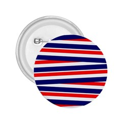 Red White Blue Patriotic Ribbons 2 25  Buttons