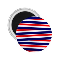 Red White Blue Patriotic Ribbons 2 25  Magnets