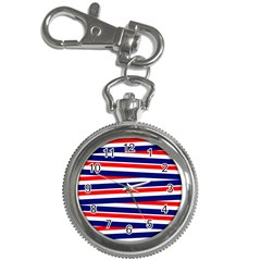 Red White Blue Patriotic Ribbons Key Chain Watches