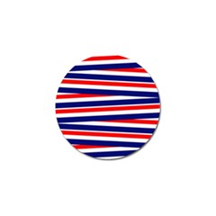 Red White Blue Patriotic Ribbons Golf Ball Marker (10 Pack)