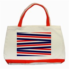 Red White Blue Patriotic Ribbons Classic Tote Bag (red)