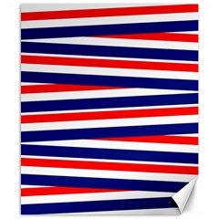 Red White Blue Patriotic Ribbons Canvas 8  X 10
