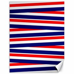 Red White Blue Patriotic Ribbons Canvas 18  X 24