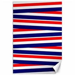 Red White Blue Patriotic Ribbons Canvas 20  X 30   by Nexatart