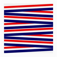 Red White Blue Patriotic Ribbons Medium Glasses Cloth