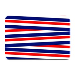 Red White Blue Patriotic Ribbons Plate Mats