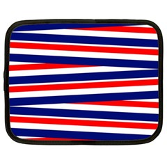 Red White Blue Patriotic Ribbons Netbook Case (large)