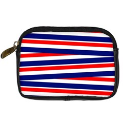Red White Blue Patriotic Ribbons Digital Camera Cases