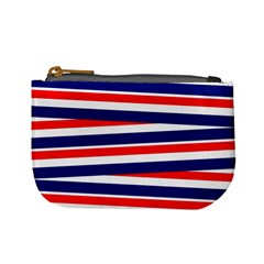 Red White Blue Patriotic Ribbons Mini Coin Purses