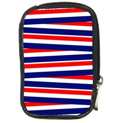 Red White Blue Patriotic Ribbons Compact Camera Cases by Nexatart