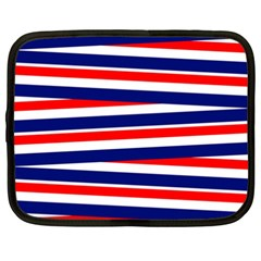 Red White Blue Patriotic Ribbons Netbook Case (xxl)