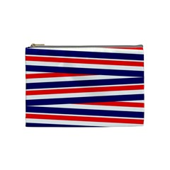 Red White Blue Patriotic Ribbons Cosmetic Bag (medium)