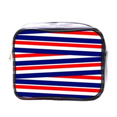 Red White Blue Patriotic Ribbons Mini Toiletries Bags
