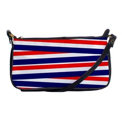Red White Blue Patriotic Ribbons Shoulder Clutch Bags