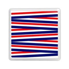 Red White Blue Patriotic Ribbons Memory Card Reader (square)